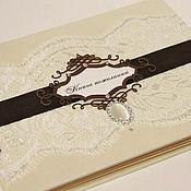 """Свадебный салон ручной работы. Ярмарка Мастеров - ручная работа Книга пожеланий """"Ванильный шоколад"""". Handmade."""
