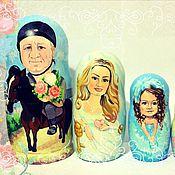 """Матрешки ручной работы. Ярмарка Мастеров - ручная работа матрешки по фото """"семья """". Handmade."""