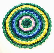 Для дома и интерьера handmade. Livemaster - original item Mat knitted from cord Spring. Handmade.