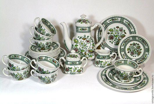 Винтажная посуда. Ярмарка Мастеров - ручная работа. Купить Фарфоровый сервиз мануфактуры Wood & Sons, серия Dorset. Handmade.