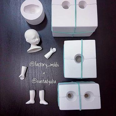 Materials for creativity handmade. Livemaster - original item Plaster forms Doll 9-16cm. Handmade.