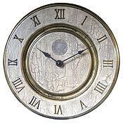 Для дома и интерьера handmade. Livemaster - original item Wall clock....white beech...old gold....three.. Handmade.