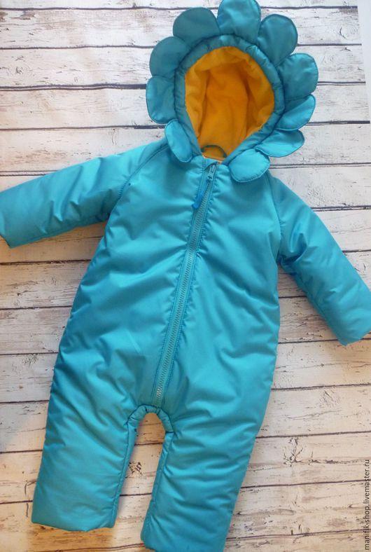 Одежда для девочек, ручной работы. Ярмарка Мастеров - ручная работа. Купить Комбинезон для малыша. Handmade. Тёмно-бирюзовый, комбинезон с капюшоном