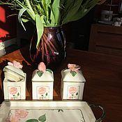 Винтаж handmade. Livemaster - original item Jars of jam on the base Villeroy&Boch, Luxembourg. Handmade.
