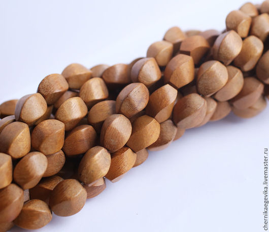 Для украшений ручной работы. Ярмарка Мастеров - ручная работа. Купить Бусины деревянные twisted, жёлтое дерево Nangka, 10х15 мм по 5шт.. Handmade.