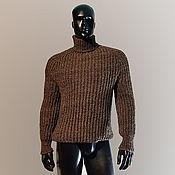 Свитеры ручной работы. Ярмарка Мастеров - ручная работа Шерстяной свитер мужской с высоким горлом. Handmade.