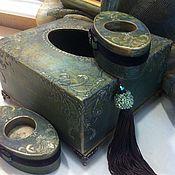 Для дома и интерьера ручной работы. Ярмарка Мастеров - ручная работа интерьерный набор салфетница,фоторамка и 2 подсвечника. Handmade.