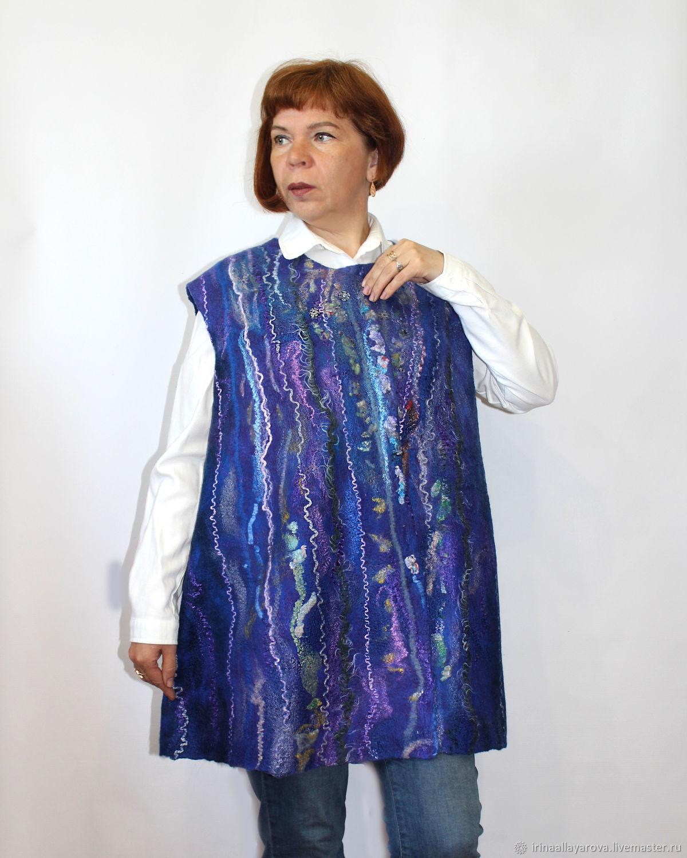 The vest is felted Cascade. large size, Vests, Verhneuralsk,  Фото №1