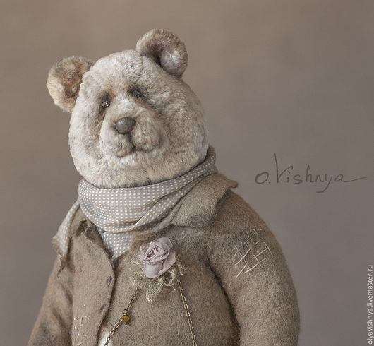 Мишки Тедди ручной работы. Ярмарка Мастеров - ручная работа. Купить Мартин (Martin) мишка тедди. Handmade. Бежевый, шёлк