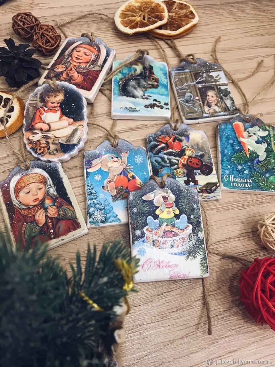 Retro tags-pendants 'As it was' -2, Christmas gifts, Sergiev Posad,  Фото №1