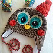 """Работы для детей, ручной работы. Ярмарка Мастеров - ручная работа Зимняя шапка""""Пингвинёнок"""". Handmade."""