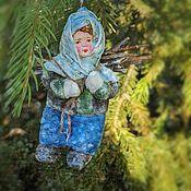 Куклы и игрушки ручной работы. Ярмарка Мастеров - ручная работа Девочка с хворостом. Handmade.