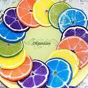 "Украшения handmade. Livemaster - original item Earrings ""lemon"", ""Lyme"", ""Orange"". Handmade."