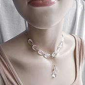 Украшения handmade. Livemaster - original item Necklace with rock crystal. 925 sterling silver. Handmade.
