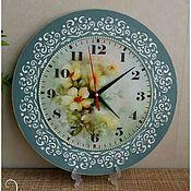 Часы классические ручной работы. Ярмарка Мастеров - ручная работа Настенные часы декупаж. Handmade.