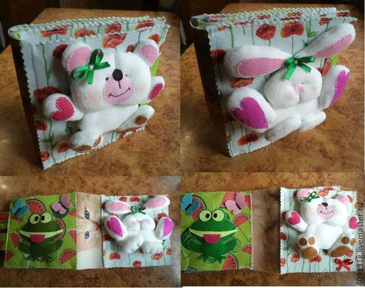 Развивающие игрушки ручной работы. Ярмарка Мастеров - ручная работа. Купить Развивающая книжка из фетра. Для малышей (1-6 лет). Handmade.