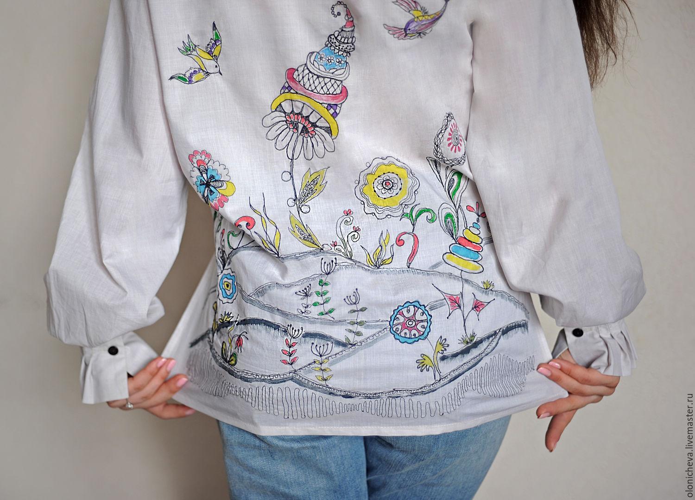 Вышивка на блузках 413