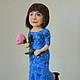Портретные куклы ручной работы. Портретная кукла Леди в синем. Диана Грант (zumzum-latvija). Интернет-магазин Ярмарка Мастеров.