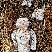 Куклы и пупсы ручной работы. Ярмарка Мастеров - ручная работа Ангел-Хранитель.белый кружевной ангелочек в подарок.кукла ангел винтаж. Handmade.