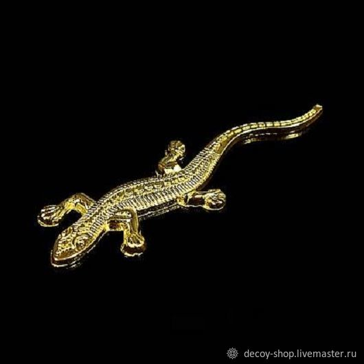 Decorative element 'Lizard' (gold), Decor for decoupage and painting, Serpukhov,  Фото №1