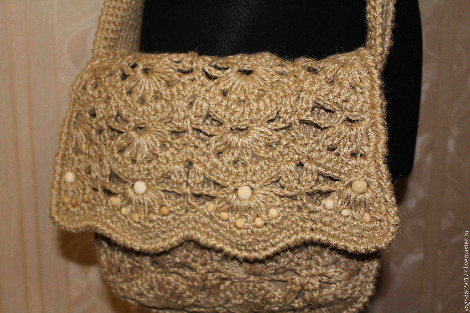 Bag jute knit .on the belt – shop online on Livemaster with shipping ...