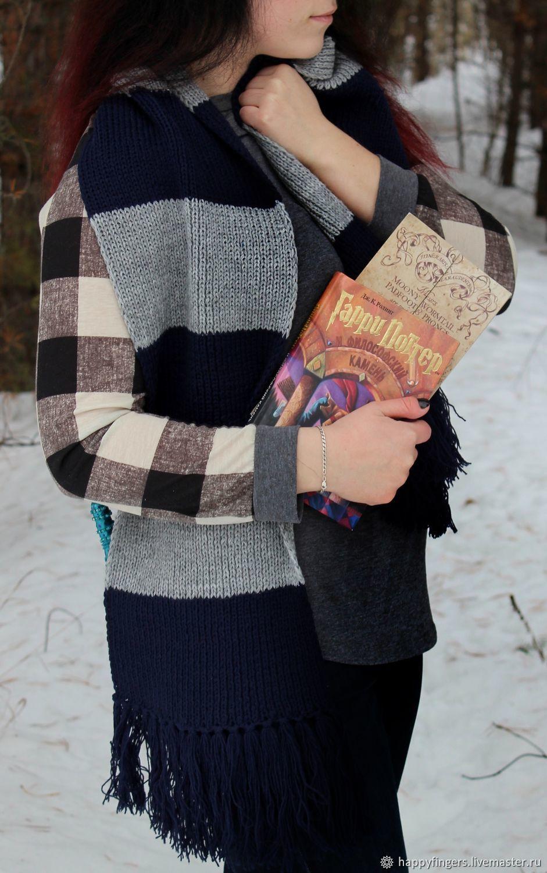 Harry Potter Ravenclaw scarf knitted scarf blue Ravenclaw, Scarves, Elektrostal,  Фото №1