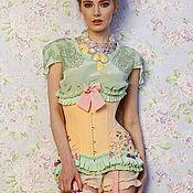 """Одежда ручной работы. Ярмарка Мастеров - ручная работа Корсет """"Цветущий персик"""". Handmade."""