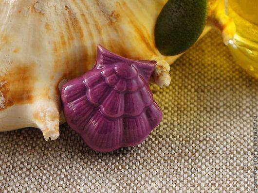 Для украшений ручной работы. Ярмарка Мастеров - ручная работа. Купить Аромакулон керамический №10 (фиолетовый). Handmade. Аромакулон, ароматерапия