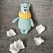 Мягкие игрушки ручной работы. Ярмарка Мастеров - ручная работа Мишутка в шарфике. Handmade.