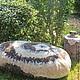 Текстиль, ковры ручной работы. Войлочный камень Choco&Tiramisu. WoolDreamer. Интернет-магазин Ярмарка Мастеров. Коричневый, экодизайн, войлочный камень