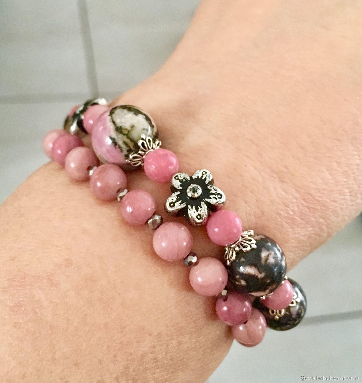 Bracelets rhodonite to choose, Bead bracelet, Riga,  Фото №1
