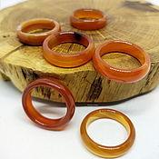 Украшения handmade. Livemaster - original item 17.5-17.75 Set of rings Carnelian Agate (NK3). Handmade.