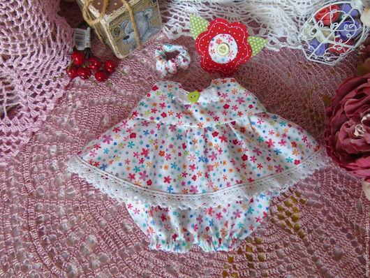 Одежда для кукол ручной работы. Ярмарка Мастеров - ручная работа. Купить Летний наряд 2. Handmade. Комбинированный, платье