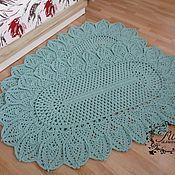 Для дома и интерьера handmade. Livemaster - original item Cotton knitted carpet