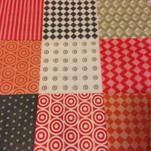 Фоновые квадраты, разные узоры  - салфетка для декупажа Декупажная радость