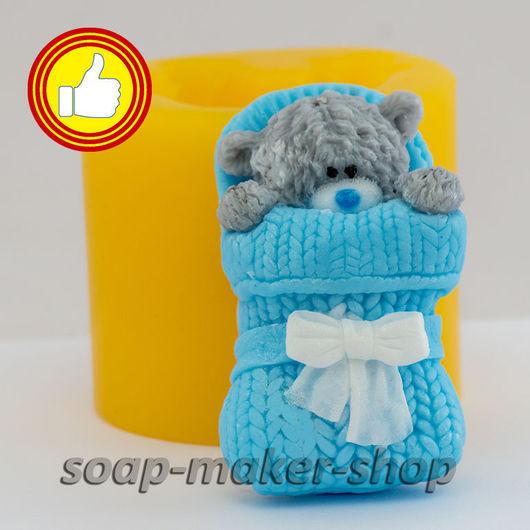 Материалы для косметики ручной работы. Ярмарка Мастеров - ручная работа. Купить Силиконовая форма для мыла «Тедди в конверте 3D». Handmade.