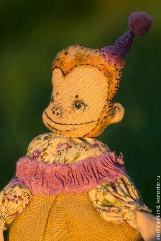 Коллекционные куклы ручной работы. Ярмарка Мастеров - ручная работа. Купить -Sweets-(Обезьяна). Handmade. Сиреневый, сладости, фиолетовый цвет