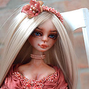 Авторская кукла Элизабет в нежном платье. Artdoll