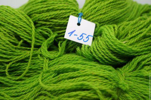 Вязание ручной работы. Ярмарка Мастеров - ручная работа. Купить ДУНДАГА однотонная № 1-55. Handmade. Ярко-зелёный