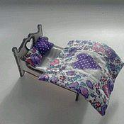 Куклы и игрушки ручной работы. Ярмарка Мастеров - ручная работа Кукольная кроватка (миниатюра). Handmade.