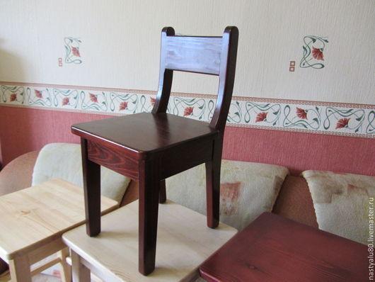 Мебель ручной работы. Ярмарка Мастеров - ручная работа. Купить детский стульчик. Handmade. Разноцветный, сосна, стульчик, детская, удобный