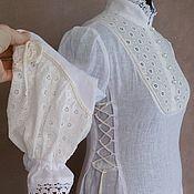 handmade. Livemaster - original item Lower linen dress with sewing for Lydia. Handmade.