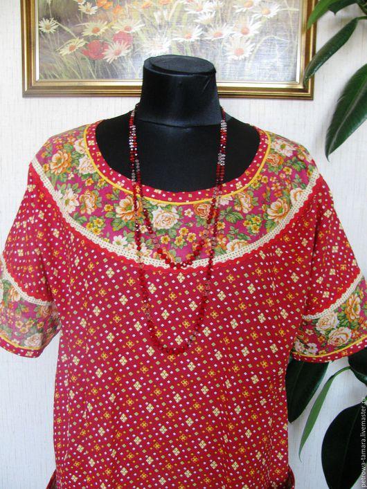 Платья ручной работы. Ярмарка Мастеров - ручная работа. Купить Платье домашнее ситцевое. Handmade. Комбинированный, ситцевая ткань