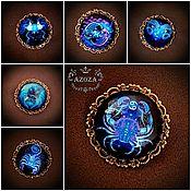 Украшения handmade. Livemaster - original item Zodiac pin brooch