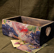 """Для дома и интерьера handmade. Livemaster - original item Короб """" Дикий виноград"""". Handmade."""