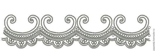 Иллюстрации ручной работы. Ярмарка Мастеров - ручная работа. Купить фестон  орнамент дизайн для машинной вышивки. Handmade. Вышивка для ребенка