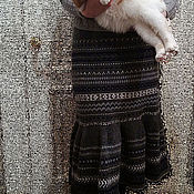 Одежда ручной работы. Ярмарка Мастеров - ручная работа Юбка вязаная зимняя- 2. Handmade.