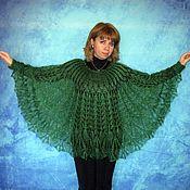 Одежда handmade. Livemaster - original item Green poncho,Hand knitted poncho,Crochet poncho,Warm poncho. Handmade.