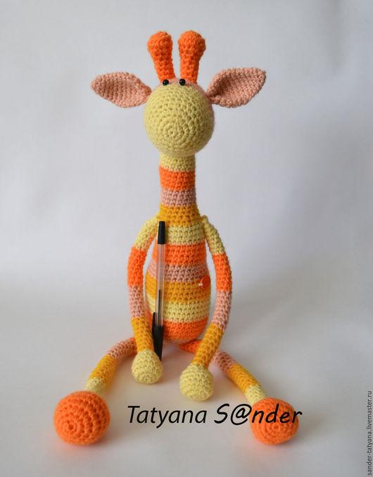 Игрушки животные, ручной работы. Ярмарка Мастеров - ручная работа. Купить Вязаный жираф крючком, рост 44 см. Handmade.