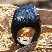 Украшения handmade. Livemaster - original item Wooden ring LIMERENCE-Night. Handmade.
